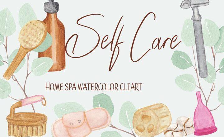 Free Self care clipart, home spa illustration Files