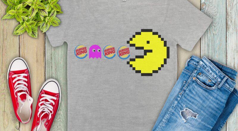 Free Packman Burger King SVG File