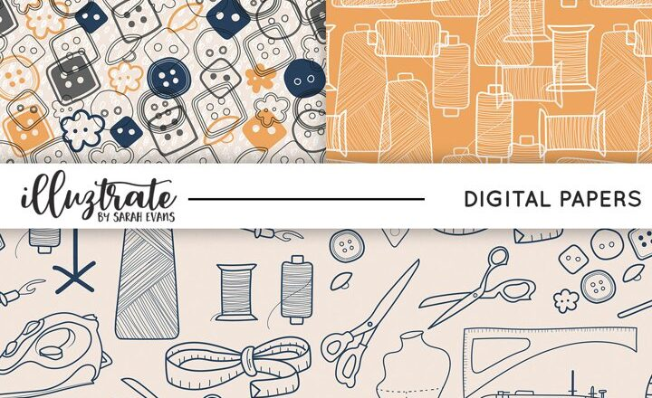 Free Sewing Patterns Seamless Digital Papers