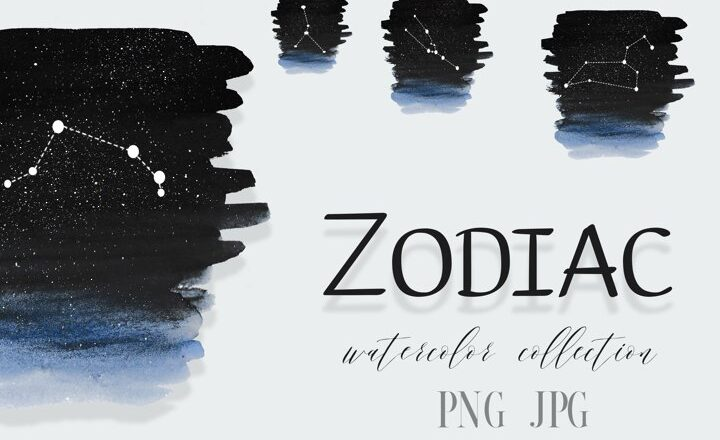 Free Zodiac sign clipart PNG,Personalised Minimalistic Zodiac
