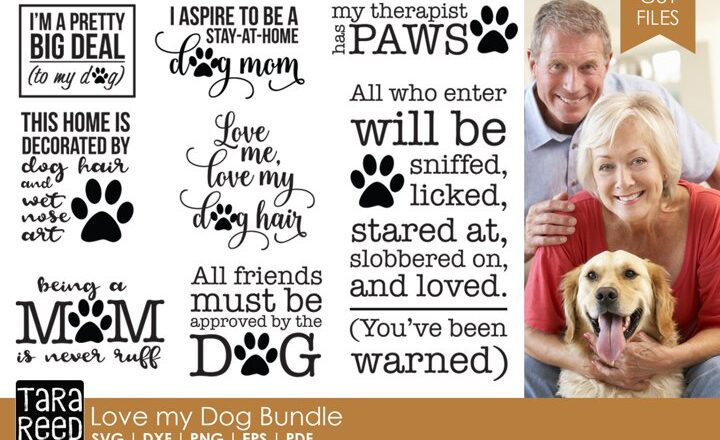 Free Love my Dog SVG Bundle