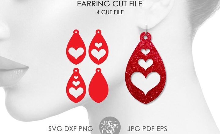 Cute earrings in teardrop shape for making Valentine's jewelry. The earrings can be mixed and matched to create style as desired.