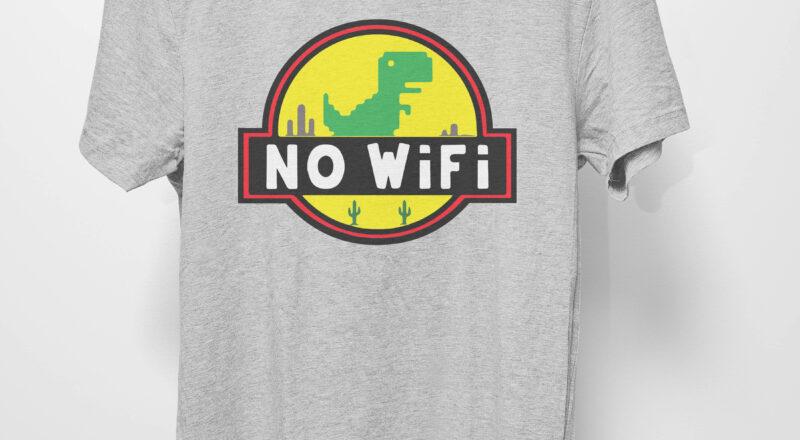 Free Jurassic Park No Wifi SVG File