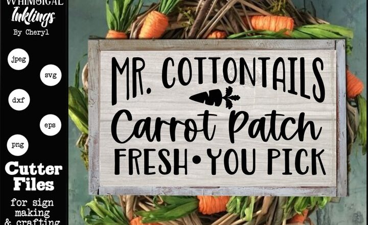 Free Mr Cottontails carrot Patch SVG