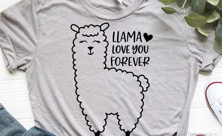 Free Llama Love You Forever SVG File