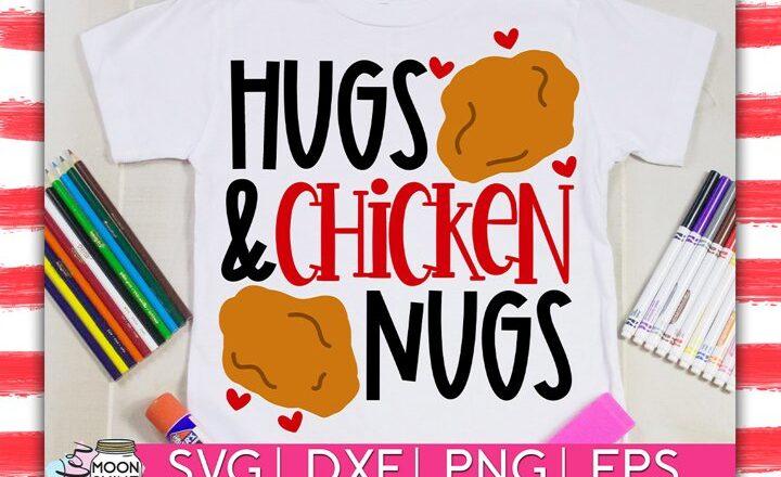 Free Hugs & Chicken Nugs SVG