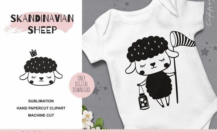 Free Scandinavian Sheep SVG File