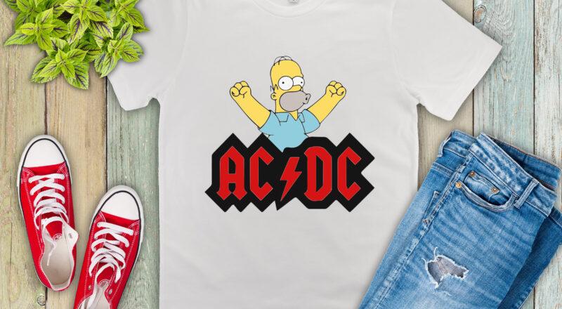 Free Homer ACDC SVG File