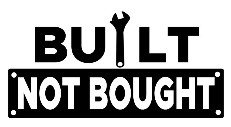 Free Built not Bought SVG File