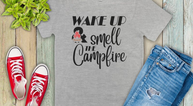 Free Smell the Campfire SVG File